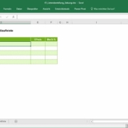Excel-Management-Reports – dynamische Listendarstellung